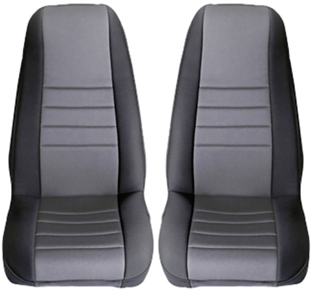 Rugged Ridge 13210.53 Black /& Red Custom Neoprene Front Seat Cover Pair