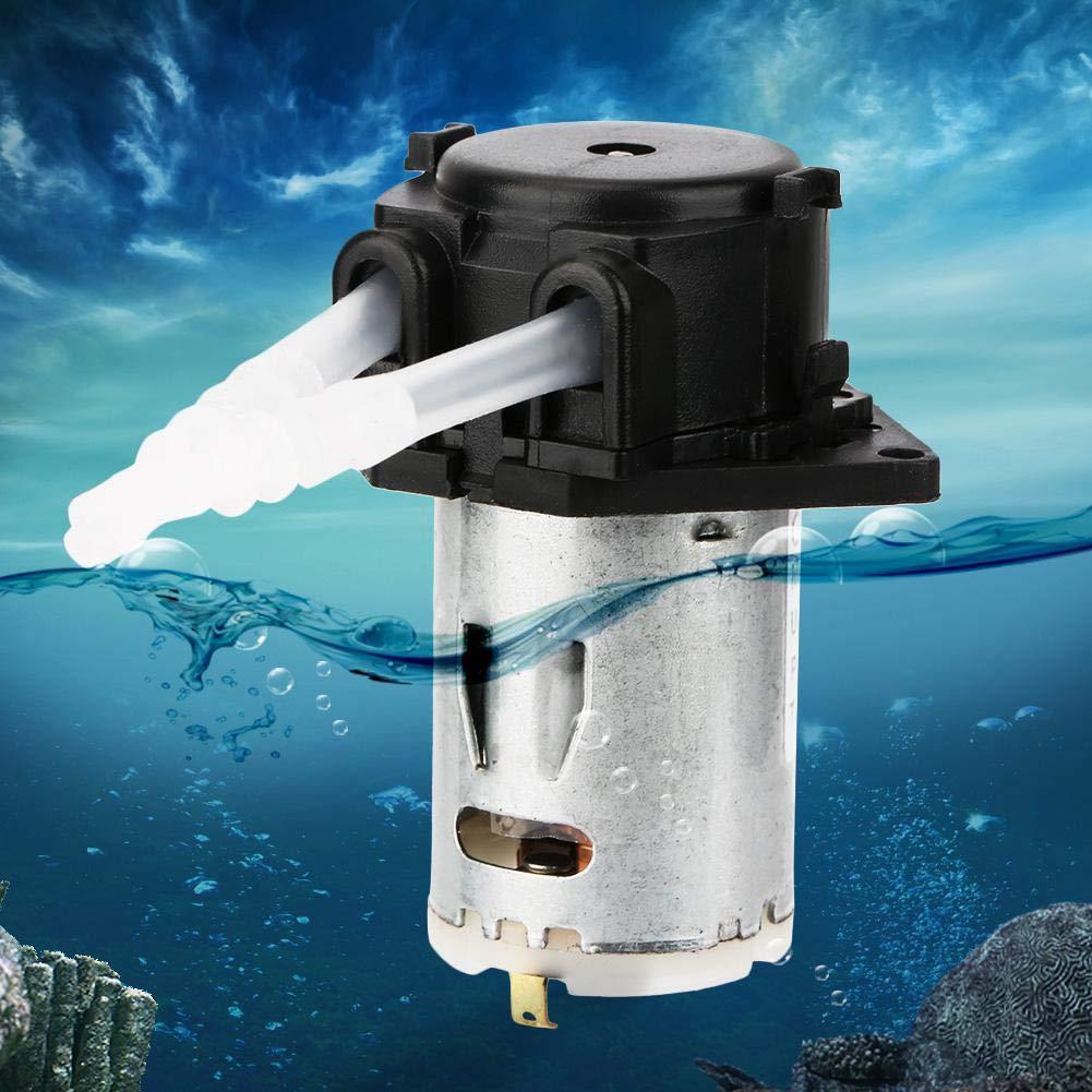 Schlauchpumpe Automatische Mikrowasserpumpe f/ür die chemische Analyse im Aquariumlabor Schwarz