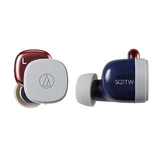 audio-technica 完全ワイヤレスイヤホン 低遅延 防水・防滴仕様 急速充電対応 最大約19.5時間再生 ネイビーレッド ATH-SQ1TW NRD
