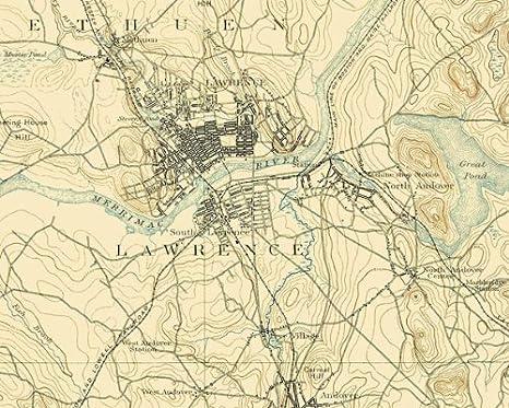 Lawrence Massachusetts Sheet USGS 1893-23 x 30.88
