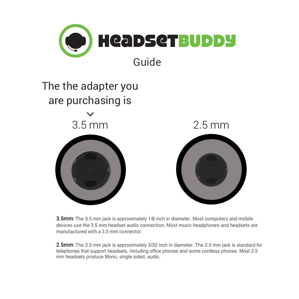 Headset Buddy 35mm Omtp To 25mm Phone Adapter Mono Headphone Jack Wiring Ph35 Ph25 Cell Phones Accessories