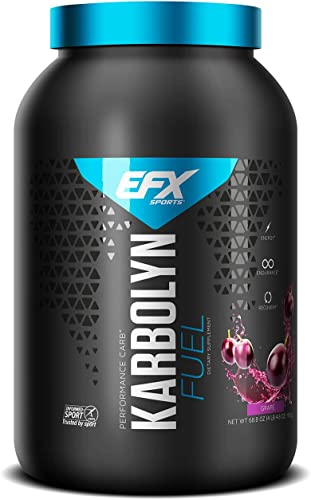 EFX Sports Karbolyn Fuel Pre, Intra, Post Workout Carbohydrate Supplement Powder Carb Load, Energize, Improve Recover Faster Easy to Mix Grape 4 LB 4.8 OZ