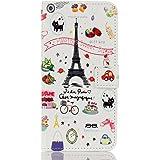 Iphone7 ケース レザーケース おしゃれデザイン バラエティ かわいい 手帳型ケース 手帳 カバー スマホケース アイフォン7 ケース 保護ファイル+タッチペン付き (iphone7)