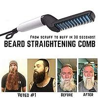 Quick Hair Styler,Men Quick Beard Straightener Styler Comb Multifunctional Hair comb Curling Curler Show Cap Tool, 26.5cm x 5.5cm x 8.1cm