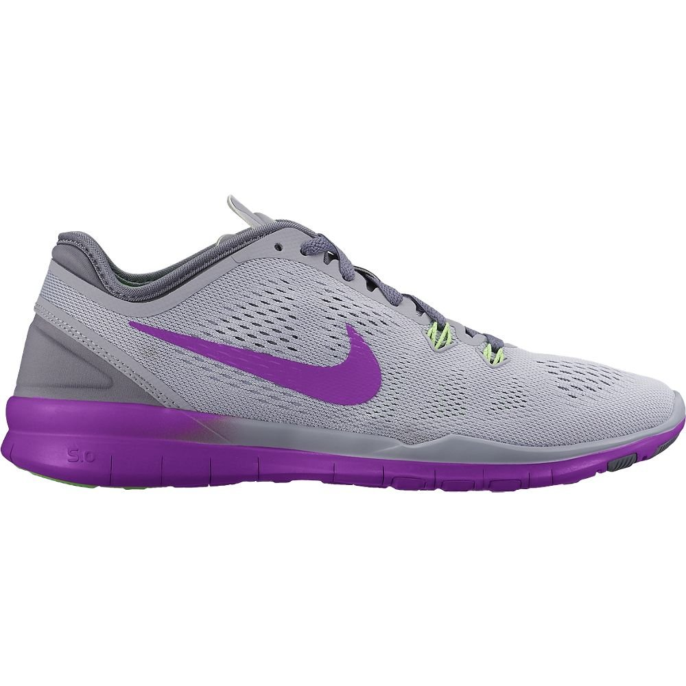 NIKE Women's Free 5.0 TR Fit 5 Training Shoe B00VIRR8WC 5 M US|Wolf Grey/Vivid Purple/Voltage Green/Dark Grey