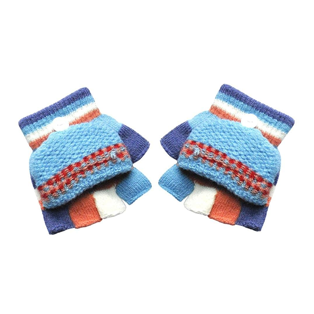 Baby Gloves Oldeagle Infant Baby Half Finger Solid Hot Girls Boys Winter Fingerless Warm Gloves
