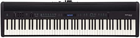 Roland FP-60-BK 88-llaves Piano Digital, Teclado electrónico, Sonido y sensaciones de teclado adecuados en un diseño portátil, Negro