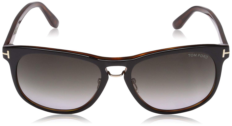 b9885ccefff Amazon.com  Tom Ford 346 01V Black Tortoise Franklin Square Sunglasses Lens  Category 2 Le  Tom Ford  Clothing