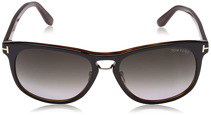 30d6bd6423 Amazon.com  Tom Ford 346 01V Black Tortoise Franklin Square Sunglasses Lens  Category 2 Le  Tom Ford  Clothing