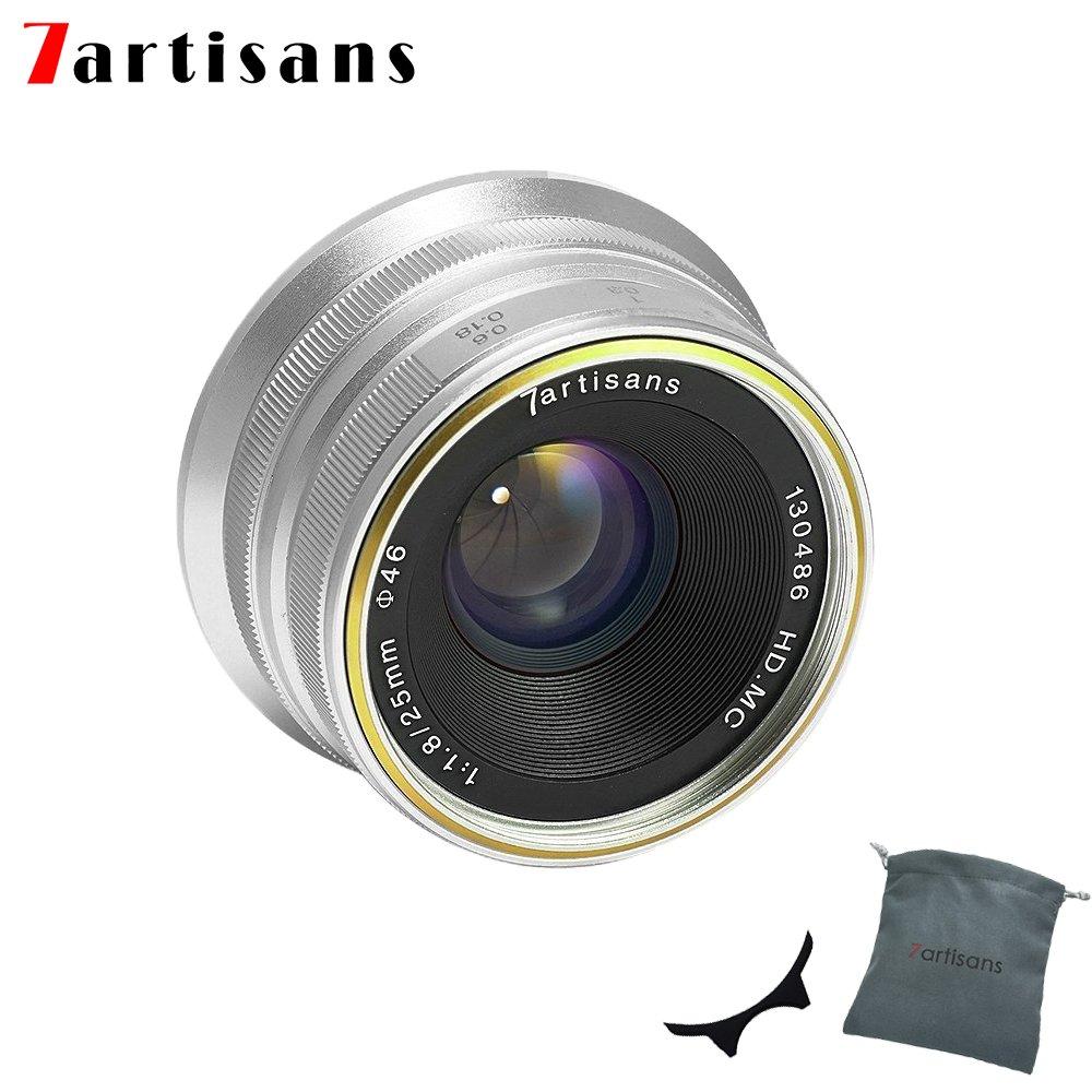 7職人25 mm f1.8手動フォーカスプライム固定レンズfor Canon eos-mマウントm1 m2 m3 m5 m6 m10 (ブラック)   B07FBG14ZP