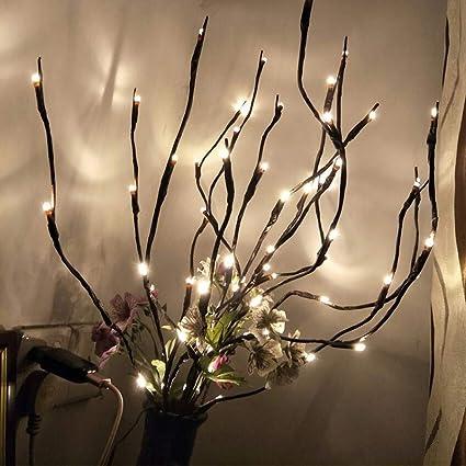 Fantasee 3 Unidades 76 Cm Rama De Luces Led Ramas Ramas De árbol Luz Flexible Ramas Decoración Luz Para Interior Casa Tienda Windows Jarrón Mesa Sala