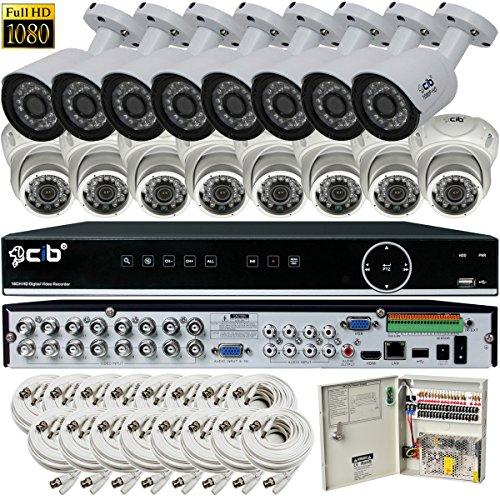 CIB Hybrid HD-TV/AHD/IP/960H 16CH 1920TVL 1080P ,Plus 8CH 4MP IP Input, DVR security system, w/ 2TB HDD,HDMI 4K/1080P Output,16x2.1Megapixel Vandal Bullet Dome Color Cameras -THZ80P16K2T56W-03W-16KIT