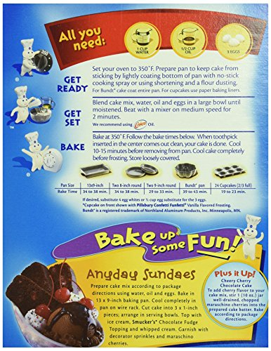 Directions On The Back Of A Cake Mix Box