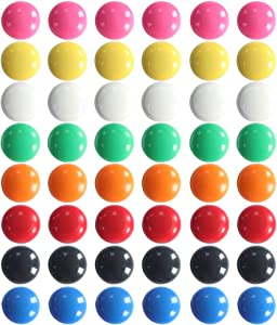 Qualsen Office Magnets 48 Pcs, Heavy Duty Round Refrigerator Whiteboard locker Magnets, Multi-color