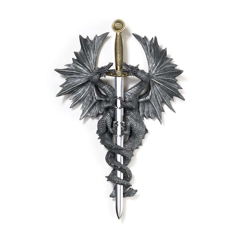StealStreet SS-KHD-36247 12 Fantasy Dragon Dagger Wall Plaque Smart Living