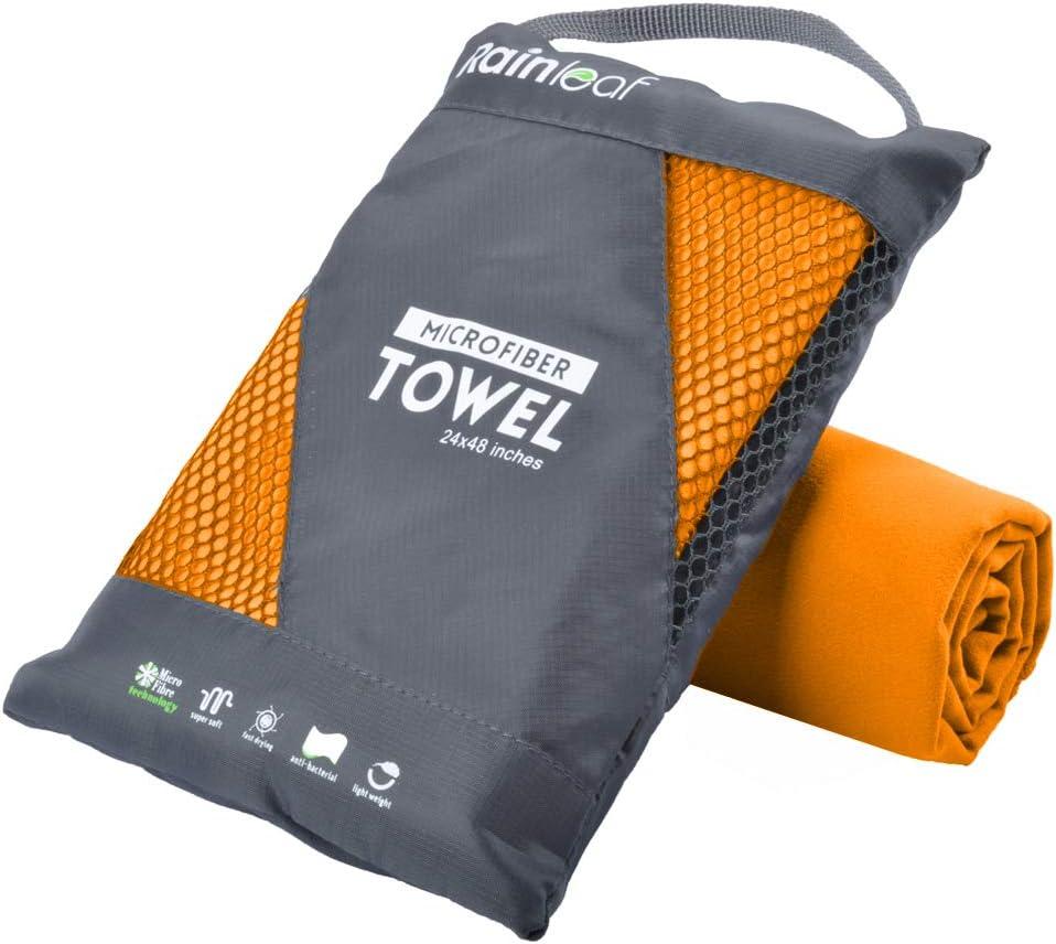 Rainleaf Microfiber Towel Perfect Travel & Sports &Beach Towel