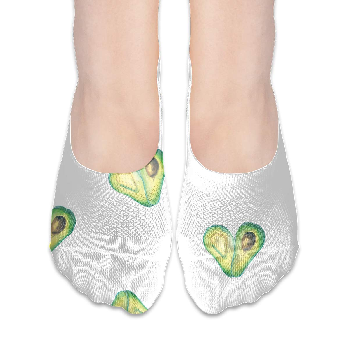 No Show Socks Avocado Pattern Low Cut Liner Socks Invisible Athletic Liners For Women Hongao