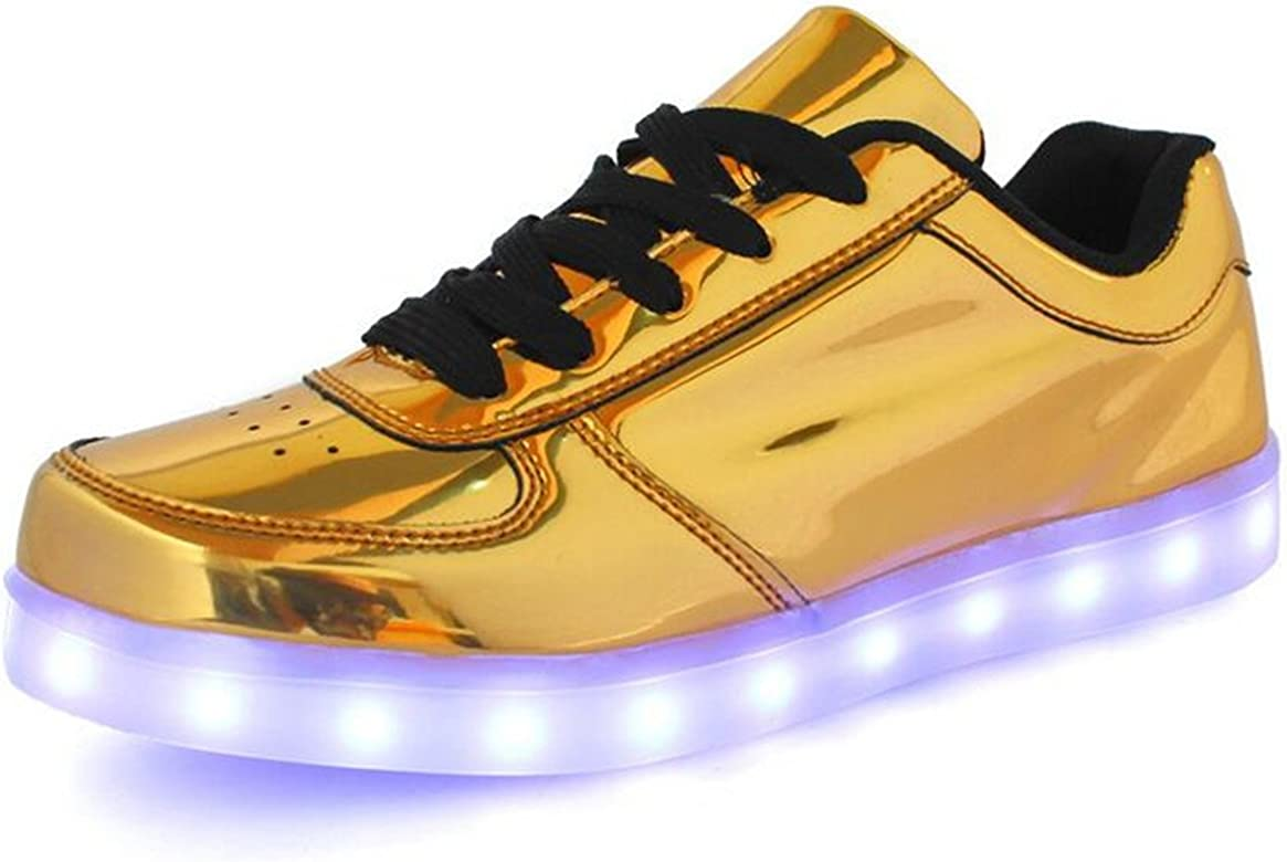 Pamray Zapatillas con Ruedas led 7 Colores Deportivas Carrefour para niños Mujer Hombre Gold 46: Amazon.es: Zapatos y complementos