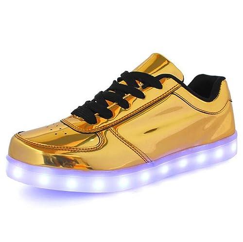 Joney Zapatillas led 7 Colores Deportivas Carrefour para niños Mujer Hombre Gold 46: Amazon.es: Zapatos y complementos