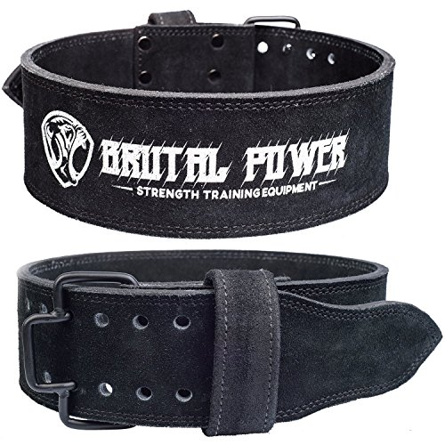 Genuine Suede Leather Pro Weight lifting Belt for Men and Women (MEDIUM 32
