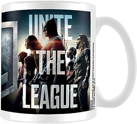 Pirámide Internacional Justicia película (unir la Liga) Oficial en Caja de cerámica café/té Taza, Papel, Multicolor, 11 x 11 x 1,3 cm: Amazon.es: Hogar