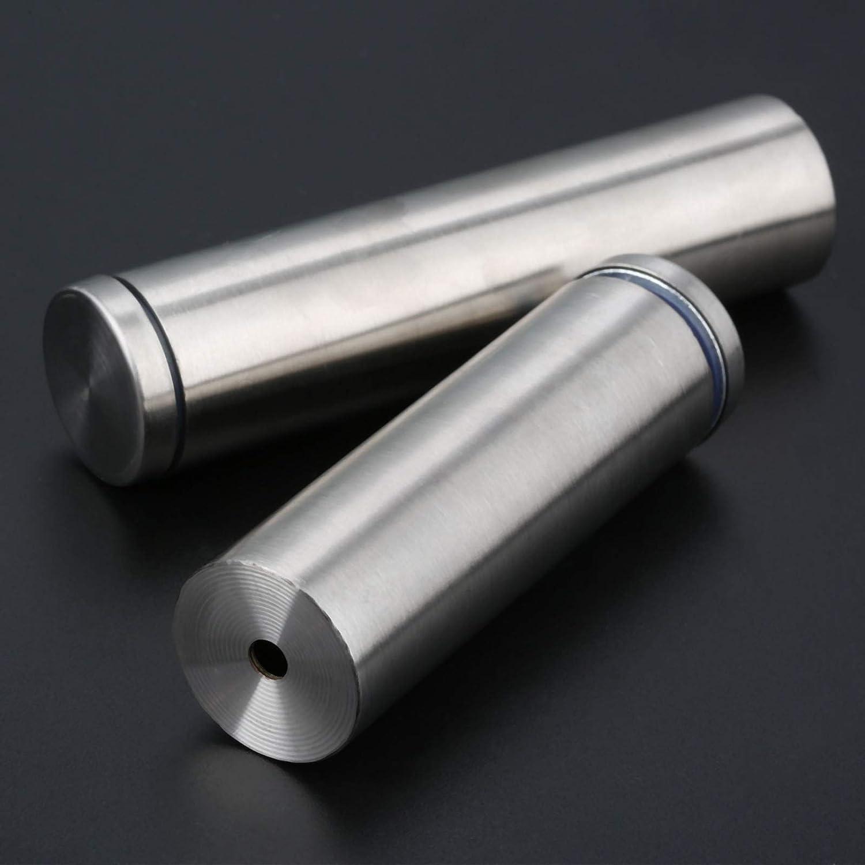 10pcs Edelstahl 25x60mm Glasabstandshalter Schraubenn/ägel Werbung Schraube Standoff Pins