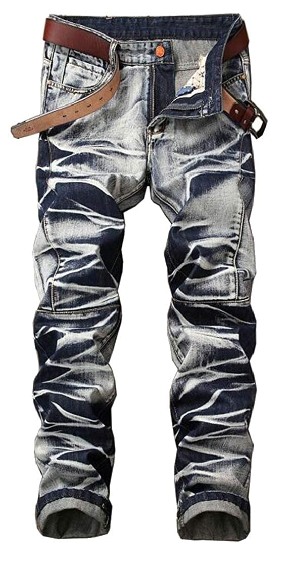Generic Mens Fashion Casual Slim Fit Casual Classic Denim Pants Trousers