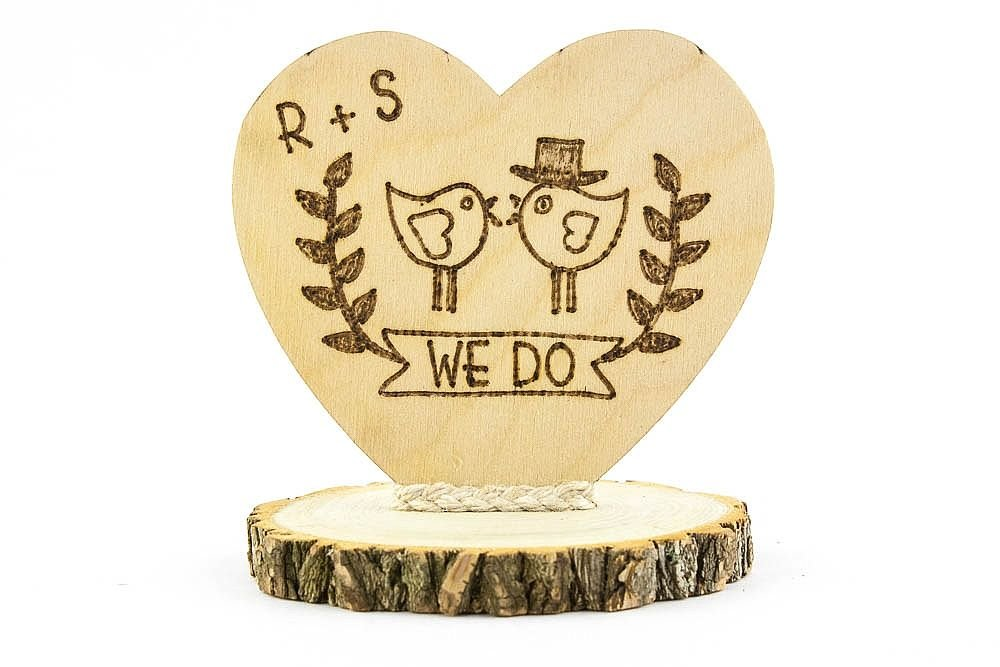 Amazon.com: Personalized Rustic Cake Topper: Kitchen & Dining