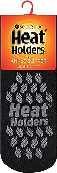UK Size 4-8 Sockshop Heat Holders 1 Pair Pack Slipper Thermal 2.3 Tog Socks