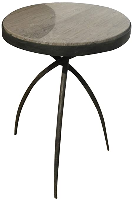 Studio A Tripod Table With Grey Marble Top, Small
