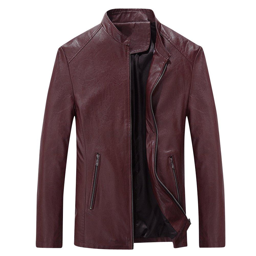 URBANFIND Men's Causal Slim Fit PU Leather Motorcycle Jacket Men Jackets 01002