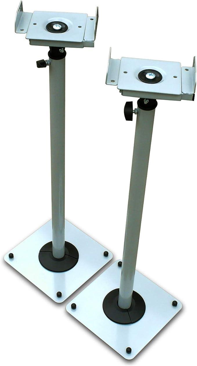 Drall Instruments 2 Lautsprecher Stative In Silbergrau Elektronik