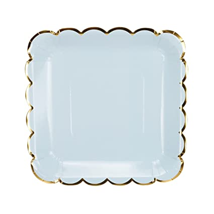Geeklife Square Paper Plates with Sparkly Gold Foil Border9 inch Paper Dessert Plates  sc 1 st  Amazon.com & Amazon.com: Geeklife Square Paper Plates with Sparkly Gold Foil ...