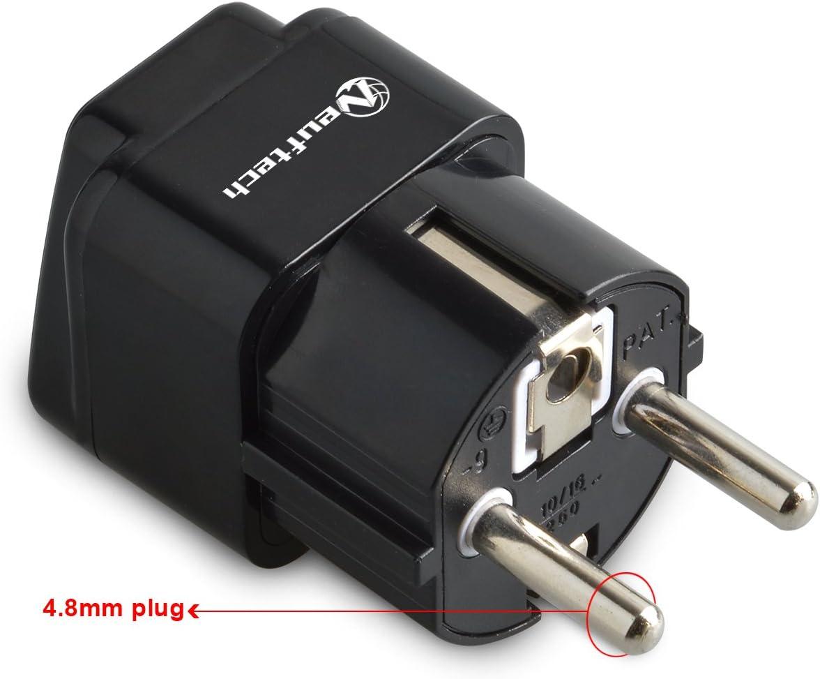 Neuftech 2 X 4.8mm Enchufe Universal Viaje Adaptador para UK, USA ...
