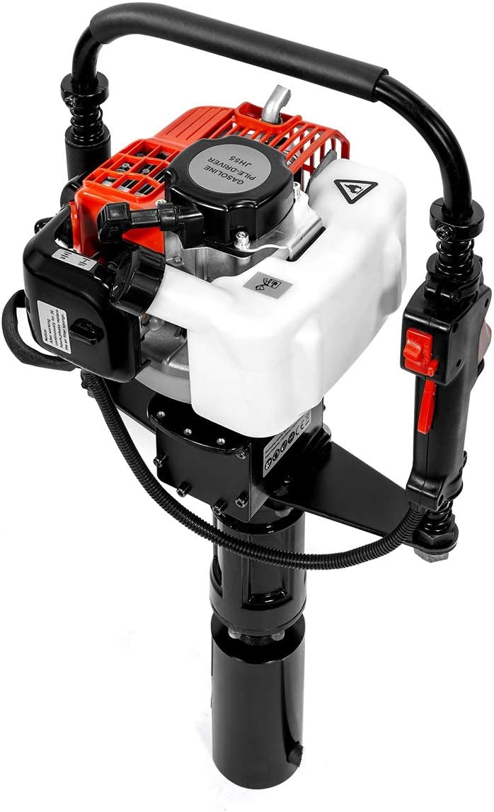 XtremepowerUS 32.7CC Gas-Powered T Post Driver Fence Post Driver Gasoline Motor Piling 2-Stroke EPA Engine w Case