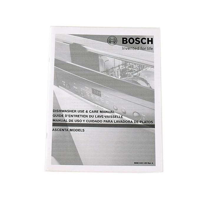 Amazon.com: Bosch 00720572 Dishwasher Owners Manual Genuine ...