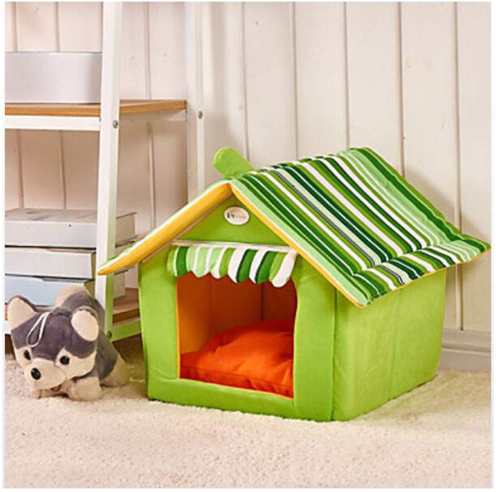 Green M Green M YAMEIJIA Cat Dog Bed Pet Mats & Pads Cartoon Foldable Soft Coffee Red Green bluee Pink For Pets