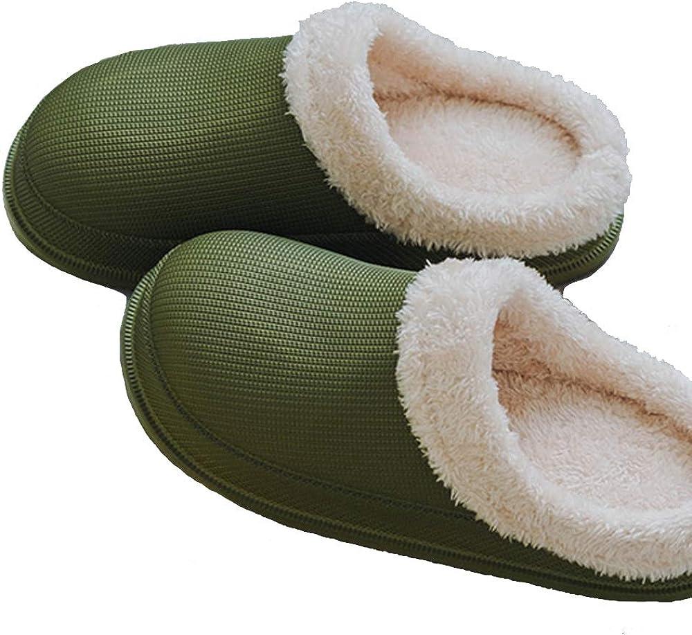 Clog Slippers Fluffy Fleece Lined Winter Indoor Outdoor Non-Slip House Home Slip on Garden Shoes Men Women
