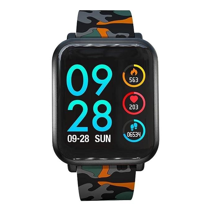 DAYLIN Monitor de Actividad,Reloj Inteligente IP68 a Prueba de Agua con Monitor de Sueño,Podómetro,Calendario,Control Remoto de Música,Pulsera Actividad ...
