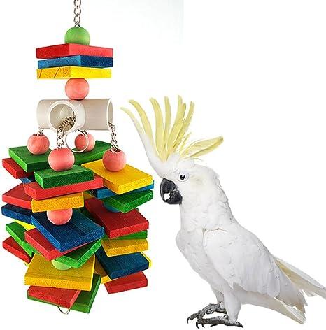 Hammock Cockatiel Macaw Peety Bird Parrot Chew Toy Wood Bite Cages Toys African Grey Bird Budgie