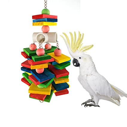 amazon com large parrot chew toy for bird macaw african greys