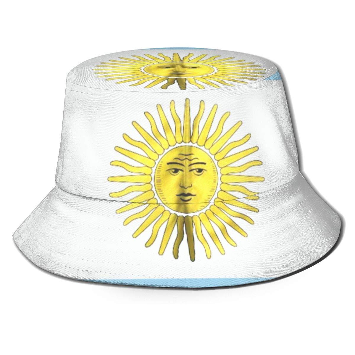 Pipaxing Argentina Flag Sun Bucket Hat Summer Fisherman Cap para ...