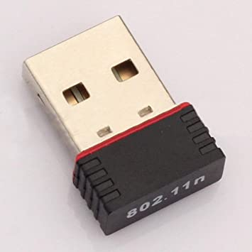 Lorenlli Mini PC Adaptador WiFi USB Antena WiFi Tarjeta de Red inalámbrica para computadora Tarjeta de Red Mini para computadora inalámbrica Receptor ...