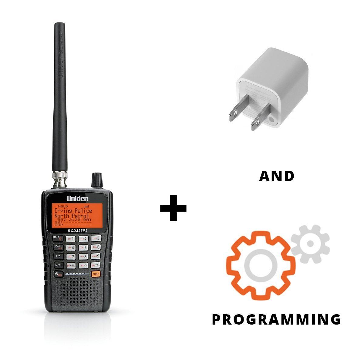 Uniden BCD325P2 Phase II OPTIMIZED Digital Handheld Scanner Bundle …