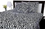 zebra sheet set twin - Zebra Print Twin Size Ultra Soft Natural 4 PCs Bed Sheet Set 16
