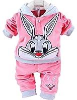 Baby/Toddler Velour Clothing Set Cartoon Rabbit Winter Outfit Set for Boys Girls