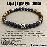 Yoga Chakra Stretch Beaded Bracelet || The snake is a powerful symbol representing fertility or a creative life force. As snakes shed their skin through sloughing, they are symbols of rebirth, transformation, immortality, and healing. In many culture...