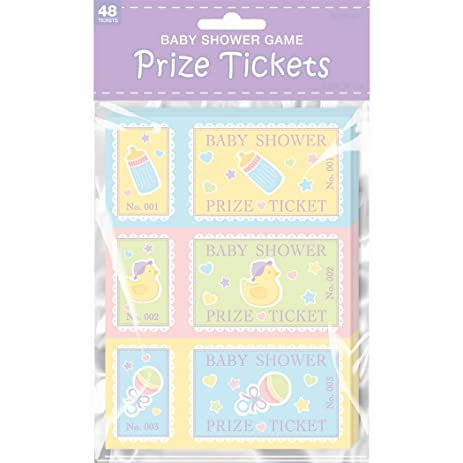 Baby Shower Prize Tickets 48ct Toys Games