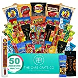 The Care Crate Man Box Ultimate Men's Snack Box Care Package ( 50 Piece Snack Pack ) Chips Variety Pack, Cookies, Pretzels, Jerky, Nuts