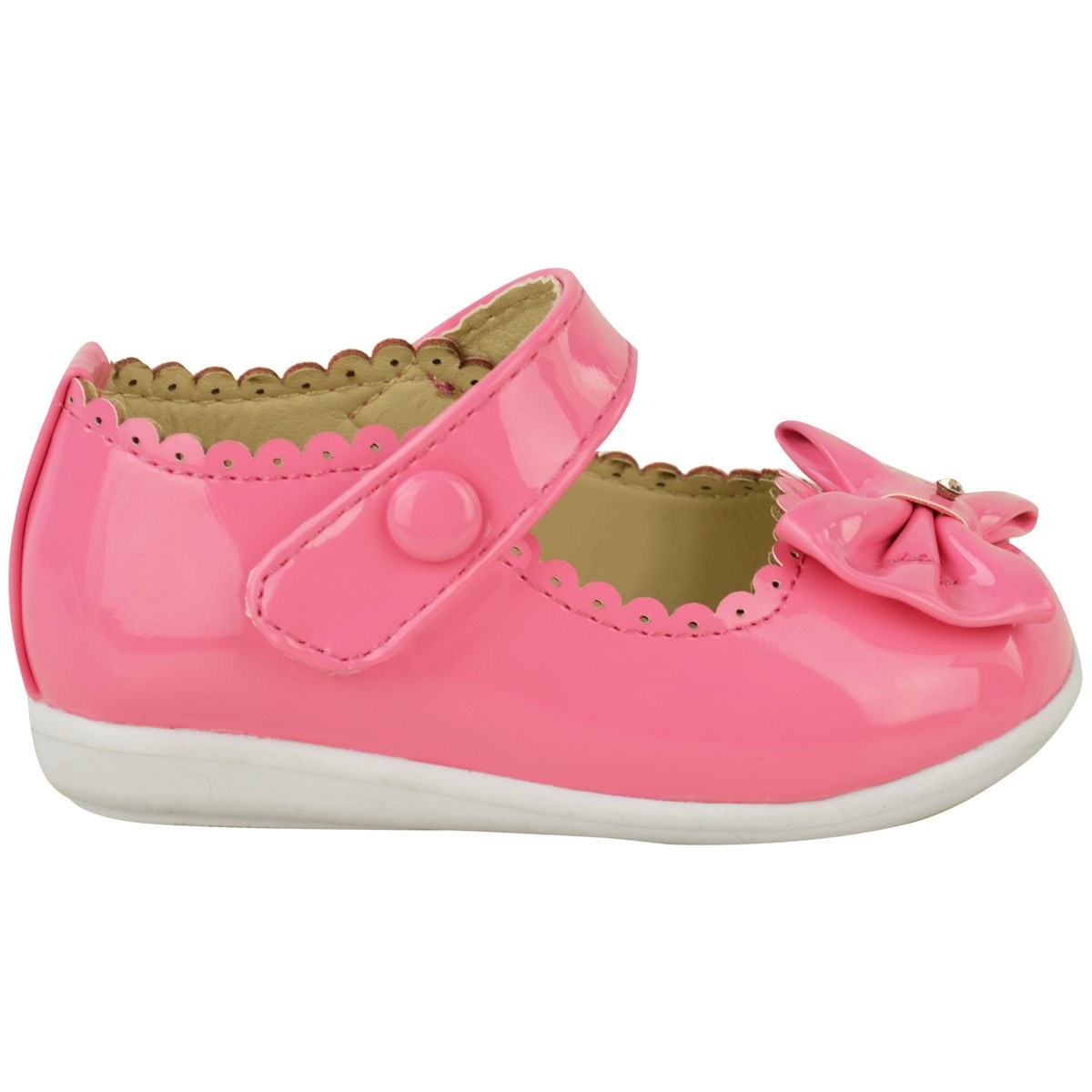 Fashion Thirsty Baby Girls Kids Childrens Patent Bow Pram Wedding  Christening Party Shoes Size: Amazon.co.uk: Shoes & Bags